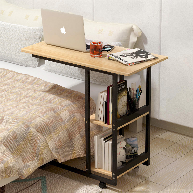 M8 Home Writing Simple Desktop Computer Desk Notebook Computer Desk Bed Learning With Household Folding Mobile Bedside Table
