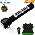 EZK20 Dropshipping LED Flashlight 5000 Lumens Solar USB Rechargeable Tactical Multi-function Torch Car Emergency Tool Compass