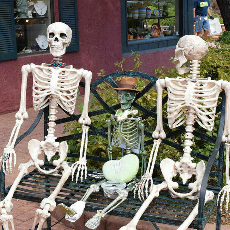 LIFE SIZE SKELETON BLOODY DEAD BEDDING Halloween Party Bloody Decoration Prop