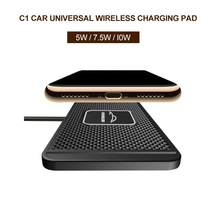 Tappetino antiscivolo per auto Qi caricabatterie Wireless in Silicone per auto supporto per culla supporto per Dock 10W ricarica rapida Wireless per IPhone 12