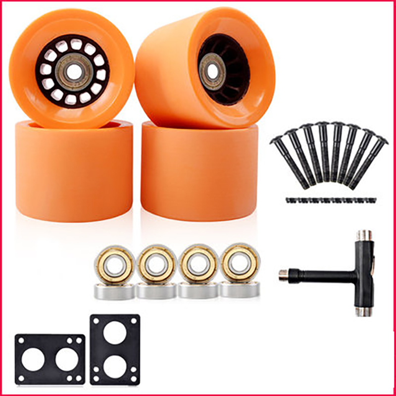 2020 New Arrival Size 78A 70*51mm Skateboard Wheels For Longboard Wheels With Bearings And Tools With 6mm Gasket 29mm Screw