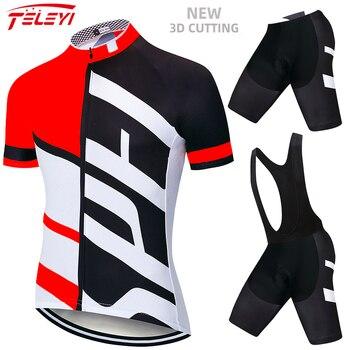 2020 verão conjunto camisa de ciclismo respirável mtb bicicleta ciclismo roupas de montanha roupas maillot ropa ciclismo 20d gel dos homens 1