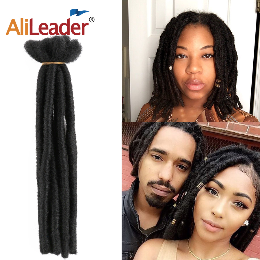 Alileader 10 Strands/PCs Dreadlocks Hair Soft Reggae Crochet Dread Extensions For Men/Women Synthetic Handmade Dreadlock Hair