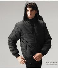Mens Down Cotton Jacket Winter Parkas Hooded Coat Suit Windbreaker
