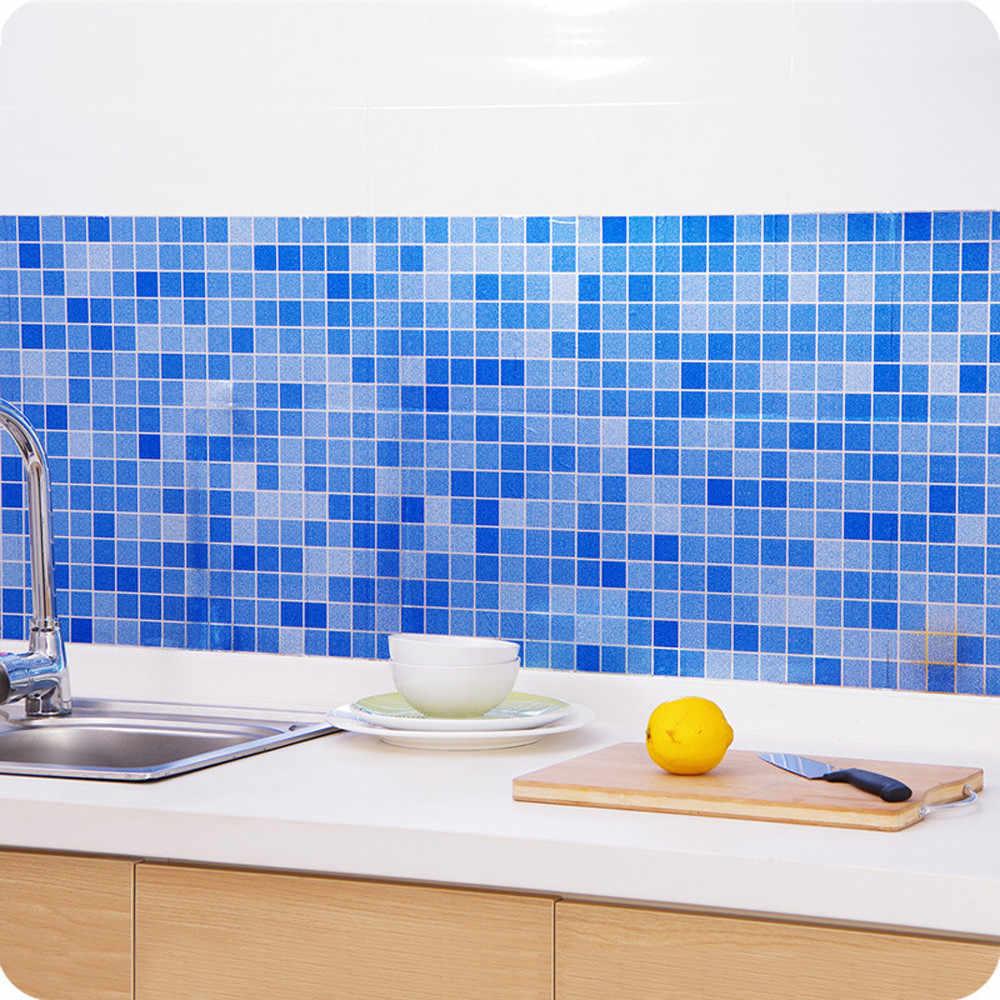 ห้องครัวอลูมิเนียมฟอยล์น้ำมันสติกเกอร์ Anti-fouling อุณหภูมิสูง Self-กาว Croppable Wall สติกเกอร์ 40*100 ซม.