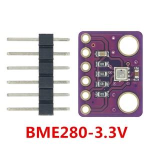 Image 2 - 10 قطعة BME280 3.3 فولت 5 فولت الرقمية الاستشعار درجة الحرارة الرطوبة الجوي وحدة استشعار الضغط I2C SPI 1.8 5 فولت BME280 وحدة الاستشعار