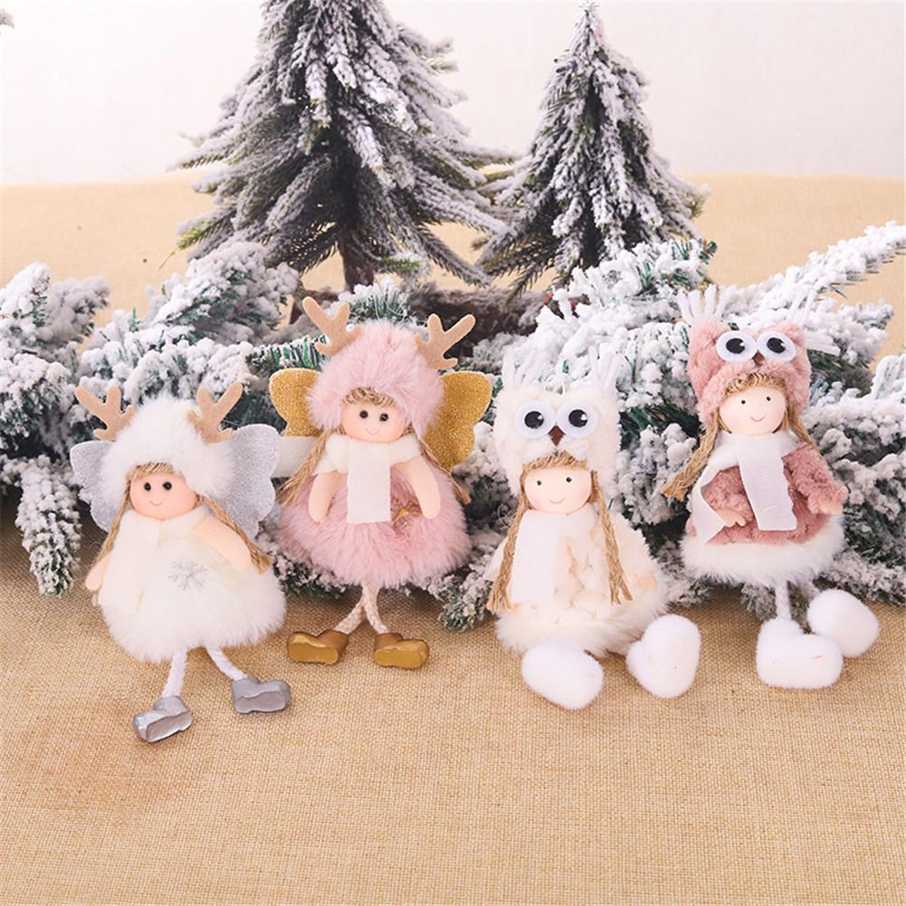 Christmas Angel Plush Doll Toy Christmas Tree Pendants Ornaments  Decoration