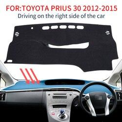 Per Toyota Prius 30 2010 ~ 2015 Auto Tappetini anti scivolo Cruscotto Rilievo Copertura Parasole Dash Zerbino Tappeto Accessori XW30 2011 2012 2013 2014