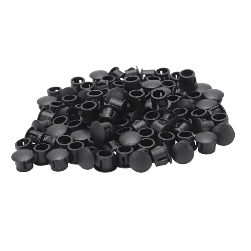 Fashion-100x 8mm Plastic Hole Plugs Rubber Stopper Plugs Plug