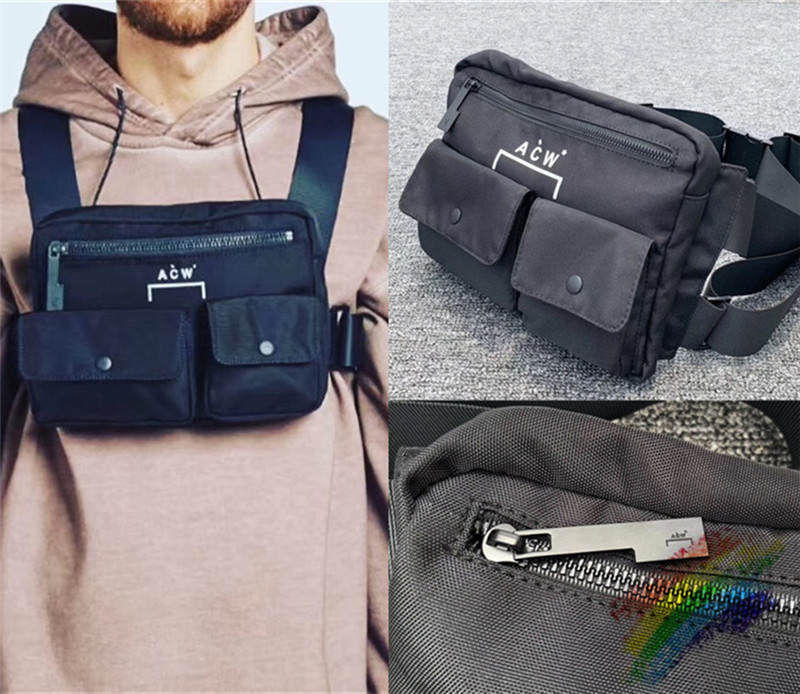 New A-COLD-WALL ACW Bag Men Women 1:1 Best Quality A-COLD-WALL Metal Button A COLD WALL Backpacks