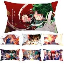 Nenhum núcleo travesseiro Meu Herói Academia Midoriya Izuku deku Pillow Impresso Capa Kawaii Macio fronha Sofá Fronha Presente de Natal