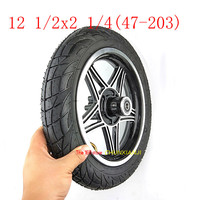 Newest 12 inch wheels 12 1/2 X 2 1/4 47 203 tire inner tube with Disc brake hole rims fits Many Gas Electric Scooters and e Bike