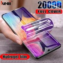 2000D écran protecteurs Hydrogel Film Pour Samsung Galaxy S10E S8 S9 S20 fe S21 Note 20 Ultra 9 10 Plus Protecteur D'écran Pour A50 A51 A70 A71 M31 Pas En Verre protection hydrogel ecran