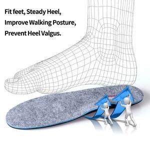 Image 4 - Semelles orthopédiques pour les pieds plats, soutien de la voûte plantaire, Inserts de chaussures chauffées en laine pour soulager les douleurs du pied