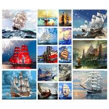 5d алмазная живопись «сделай сам» роспись корабля морской пейзаж