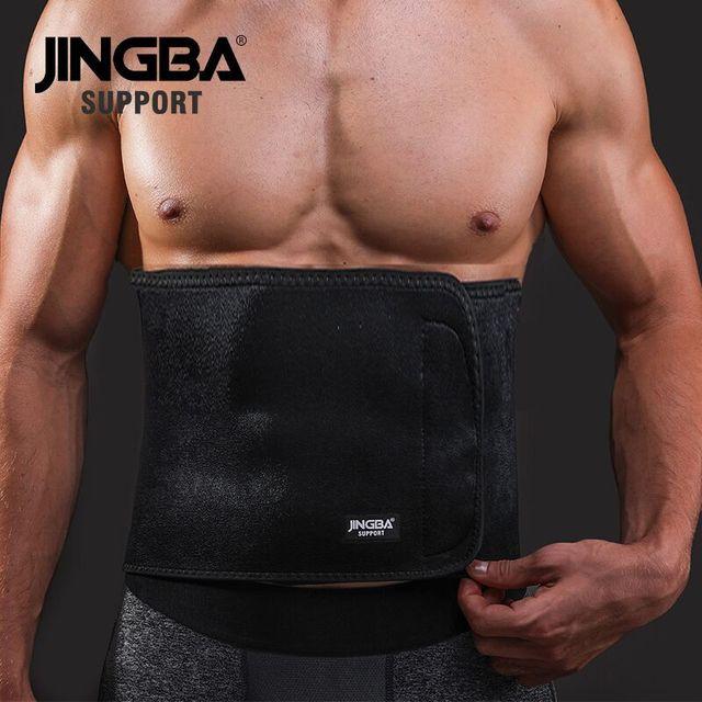 JINGBA SUPPORT Sport wais belt support fitness waist trimmer sweat belt Neoprene Lumbar Band Protective Dropshipping 2