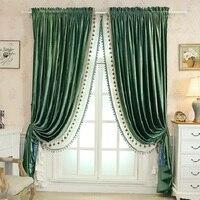 Cortina de veludo italiano sombra americano super macio veludo cortinas para o quarto sala estar engrossado janela