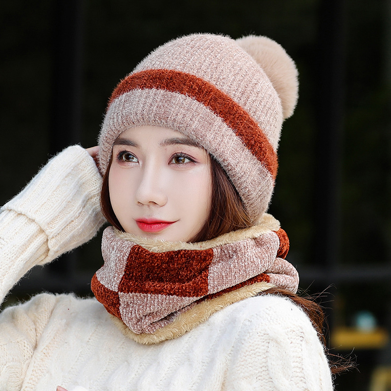 2019 Fashion Women's Beanie Hats Mufflers Masks Casual Knitted Beanies Caps Gorros Mujer Invierno Winter Hats For Women Girls