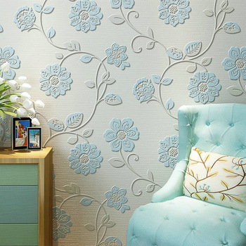 Modern Minimalist 3D Relief Non-woven Wallpaper GIRL'S Room Bedroom Marriage House Living Room Wall Wallpaper