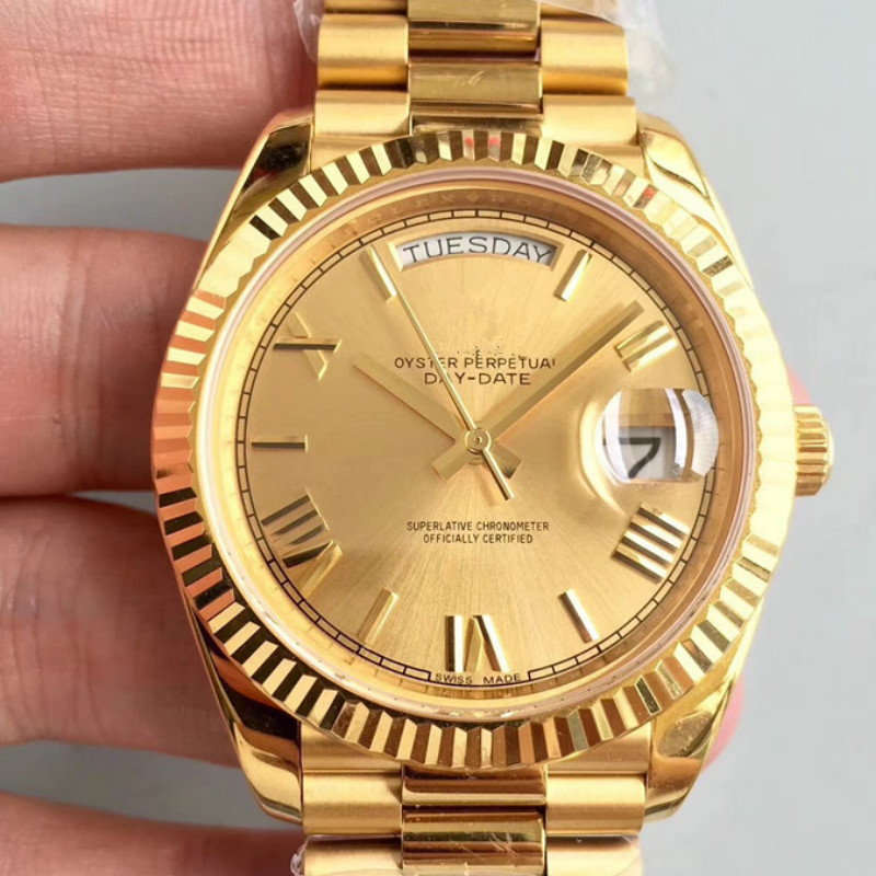 Gold Design Watch 40mm 2813 Automatic Movement Mechanical Mens 316L Stainless Steel Watches Glass Mineral Self Wind Wristwatches