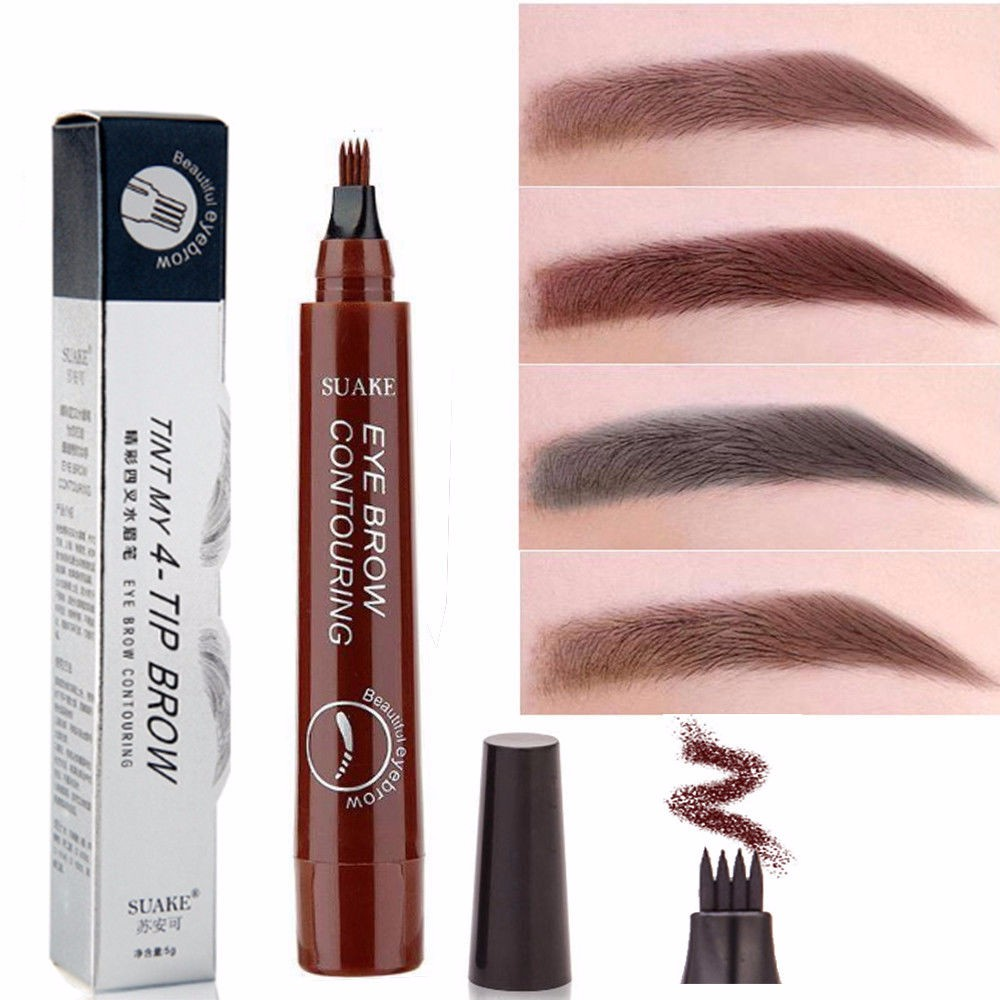 Waterproof Microblading Eyebrow Pen Fork Tip Eyebrow Tattoo Pencil Long Lasting Fine Sketch Enhancer Eye Brow Pencil TSLM1(China)