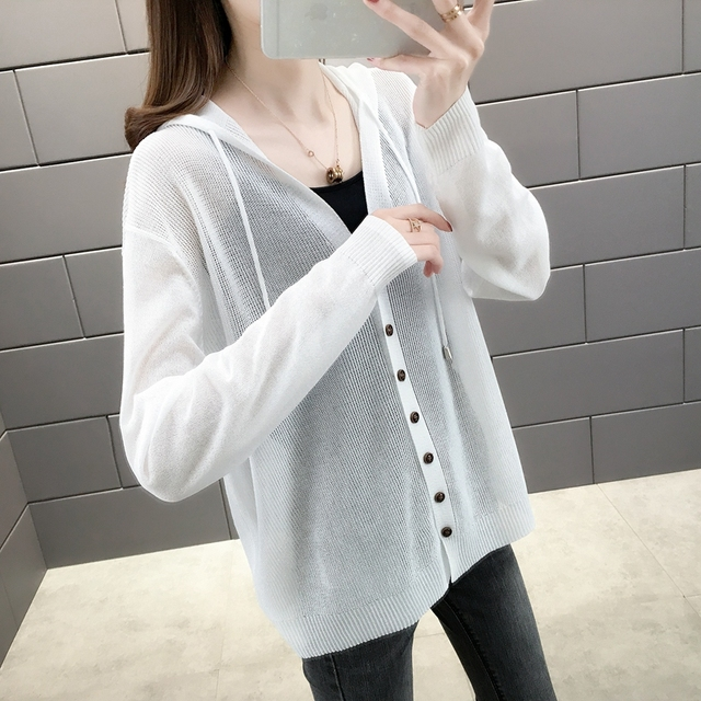 Room 156984, row 2, No.2] take a real photo of the new pure color ice hemp hooded sun proof shirt 34 6