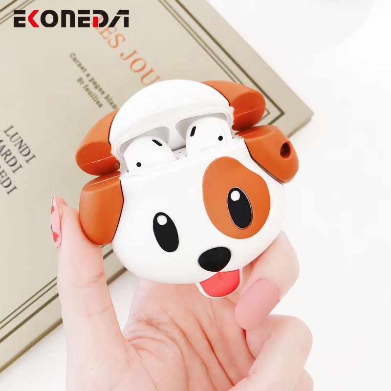 EKONEDA Cartoon Dog Protective Cover For Airpods Case Silicone Cute Animal Case For Airpods