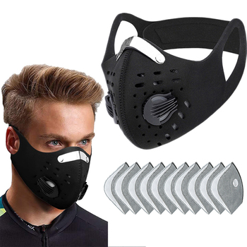 Outdoor Mask With Filter Activated Carbon PM 2.5 Anti-Pollution Face Masks Dustproof Windproof Training Mouth Mask respirator