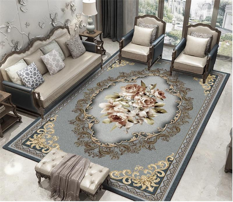 Nordic Carpet Living Room Pastoral Bedroom Carpet Classic Deisgn Rug Sofa Coffee Table Floor Mat Home Decor Study Room Area Rugs