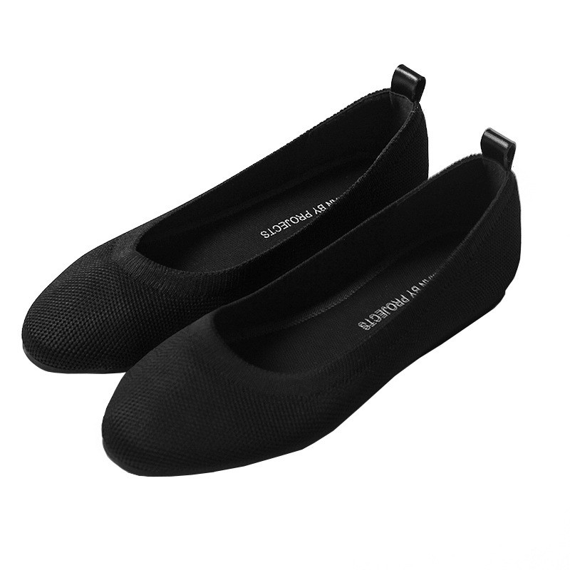 Image 5 - Womens flat Shoes Zapatos De Mujer Autumn 2019 Round flat Shoes Loafers Ballerine Femme Tenis Feminino Casual Black LadiesWomens Flats   -