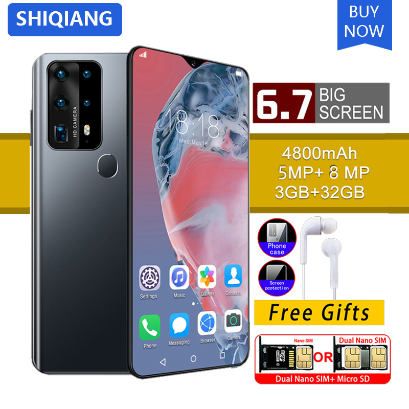 SOYES P40 Pro Mobile Phone Android Smart Unlock Face ID 6.7 <font><b>inch</b></font> 3GB+32GB <font><b>Smartphone</b></font> 4800mAh Mobile Phone image