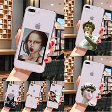 Art Paintings Venus mona lisa  Coque Shell Phone Case for iPhone 11 pro XS MAX 8 7 6 6S Plus X 5 5S SE XR cover mona lisa art david lines coque shell phone case for iphone 8 7 6 6s plus x xs max 5 5s se xr 11 11pro promax coque shell