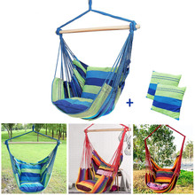 Garden Indoor Outdoor Bedroom Hammocks Canvas Swing Chair Hanging Rope Chair Camping Travel Survival Hunting Sleeping Bed гамаки
