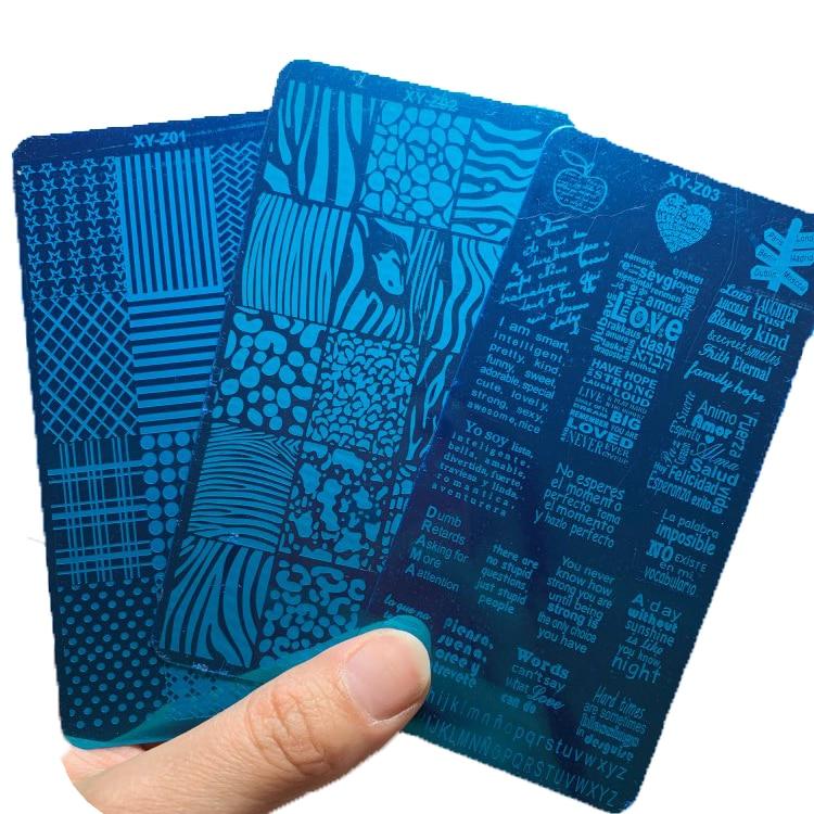 12*6 наклеек для ногтей с надписью и надписью 1-321, многостильные штамповки для ногтей, штамп для дизайна ногтей, шаблон, трафареты, HJJK