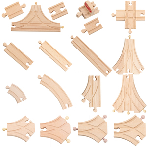 34 Models Wooden Track Parts Beech Wooden Railway Train Track TOY Accessories Fit for All Common Wooden Tracks