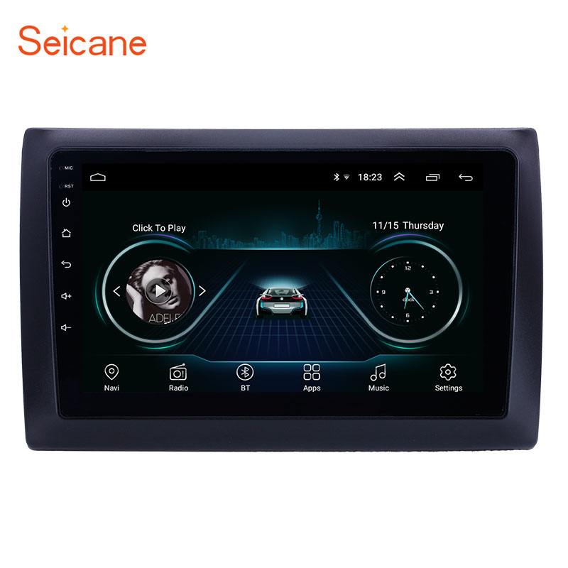 Seicane Android 8.1 9 Inch 2din HD Touchscreen GPS Audio Stereo For 2010 Fiat Stilo Car Multimedia Player With Bluetooth WIFI