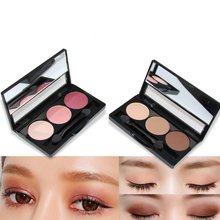 NOVO brand Aimeili Natural stereoscopic 3 color Eye shadow Shimmer Matte Eye Sha
