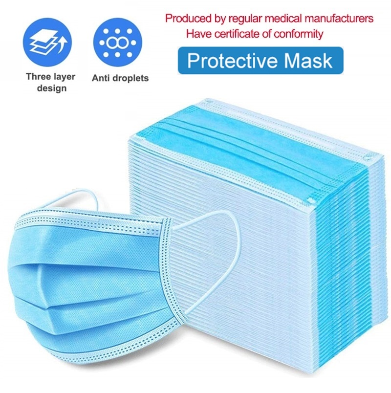 200 Pcs N95 KN95 FFP3 Mask Disposable PM2.5 Anti Pollution Mask Dust Mask Mouth Muffle Allergy Asthma Travel 3-layer Non Woven