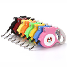 Pet with light automatic traction belt pet retractable rope dog walker 5 meters long distance