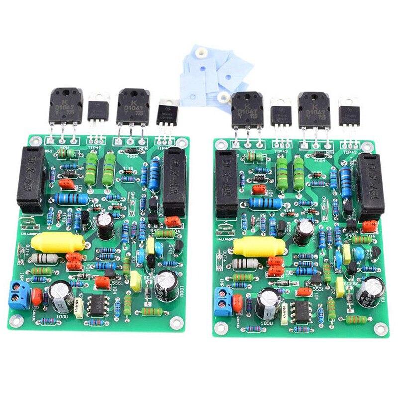 2Pcs Audio Amplifier Board Amplificador 100W X 2 Stereo Dual Channel Quad405-2 Power Amplifier Assembled Board-Hot