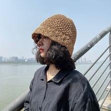 Соломенная шляпа ручной работы женская летняя нишевая кружевная