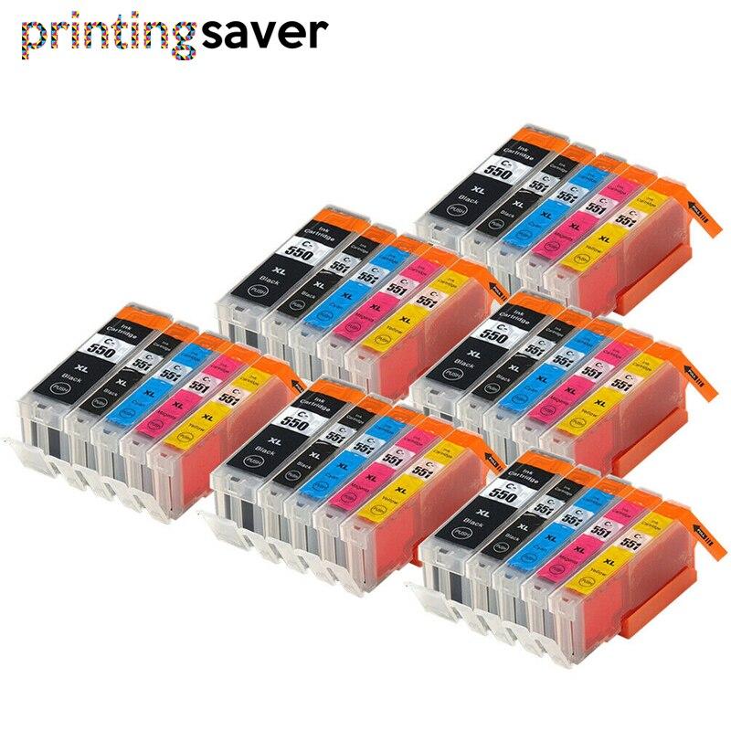 30 шт. PGI550 PGI-550 CLI-551 чернильный картридж для принтера canon PGI550 CLI551 PIXMA IP7250 MG5450 MX925 MG5550 MG6450 MG5650 MG6650 MX725