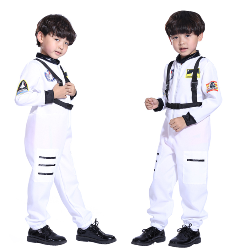 Baby Kids Volwassen Astronaut Kostuum Ruimte Pak Piloten Jumpsuit Party Purim Carnaval Cosplay Outfit Helm Voor Mannen Jongen