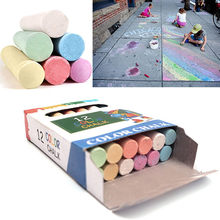 5 Pack Children Kids Pavements Sticks Assorted Colours Art Floor Chalks Hot Sale Home Painting Decor accessories H5(China)