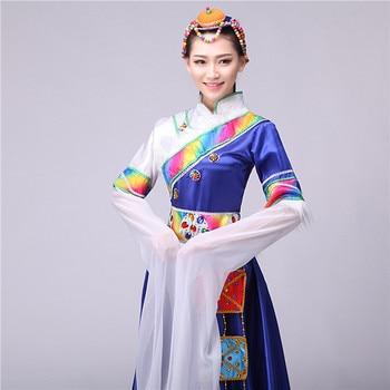 New National Dance Costumes Sleeve Female Fashion Minority Costumes Adult Girls Stage Performance Clothing Yangko Clothing