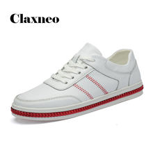 CLAXNEO Man Shoes Fashion Casual Leather Shoe Male Spring Autumn White Footwear clax Men's Leather Sneakers Big Size(China)