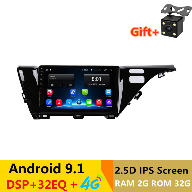 """10.1"""" 2.5D IPS Screen Android 9.1 Car DVD GPS Video player For Toyota camry 2018 headunit radio stereo navigation bluetooth wifi"""