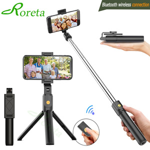 New Style Bluetooth Selfie Stick Remote Control Tripod Universal Handphone Live Photo Shoot Useful Product Multi-functional