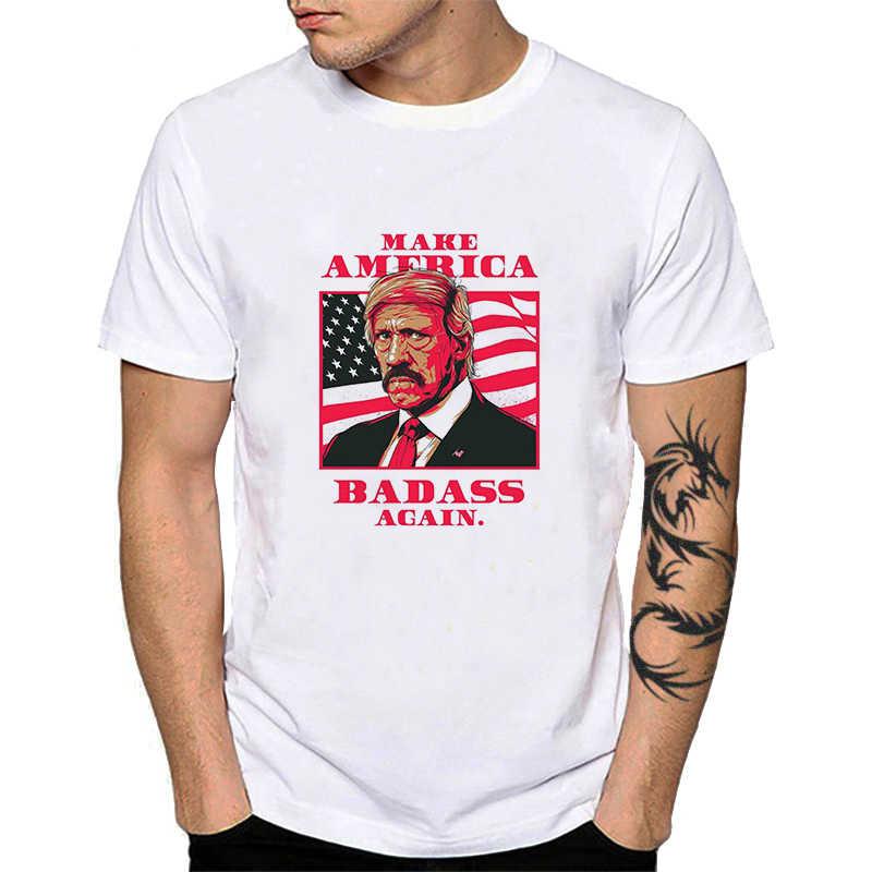 Badass Barbuto Papà Stampa T-Shirt Fare In America Badass Ancora Una Volta Gli Uomini Adulti Magliette E Camicette Tee Lip Cranio Corgi Bad Ass Cotone T camicette