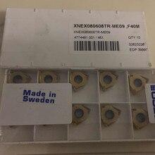 Seco XNEX080608TR-ME09 f40m cnc carboneto insere 10 peças